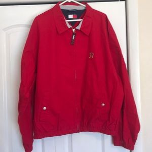 Tommy Hilfiger Jackets & Coats - 90's Tommy Hilfiger men's xxl red zip up jacket